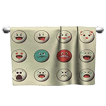 Amazon com: alisoso Emoji,Fitness Towels Cartoon Like