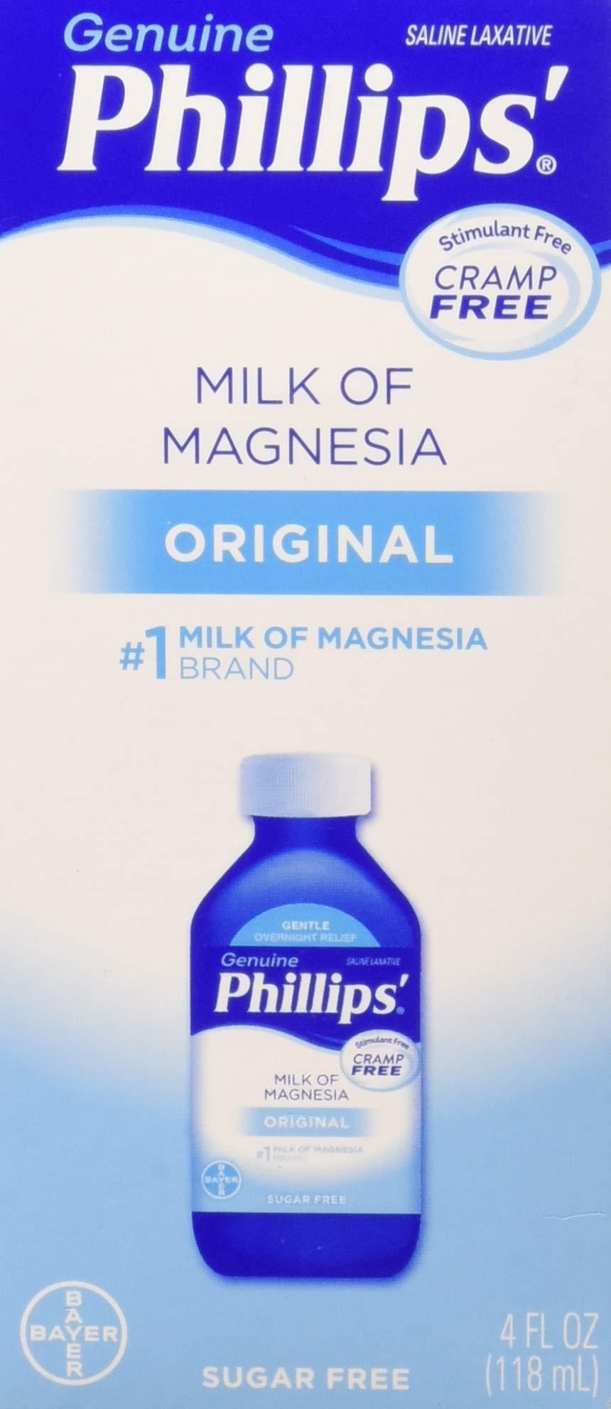 Philips' Milk of Magnesia Saline Laxative Original Sugar Free, 4 oz