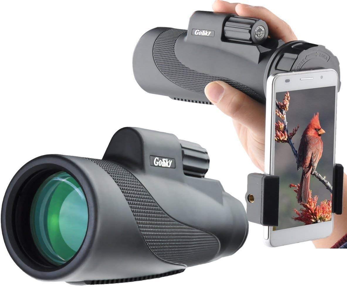 les voyages la randonn/ée le camping FYHIOY Monoculaire Starscope 12 x 50 haute puissance HD monoculaire avec support pour smartphone et tr/épied /étanche pour observer les oiseaux la chasse