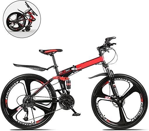 SYCHONG Bicicleta Plegable De Doble Suspensión De Bicicletas De 26 ...