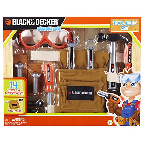 Black & Decker Junior 14 Piece Toy Tool Belt Set