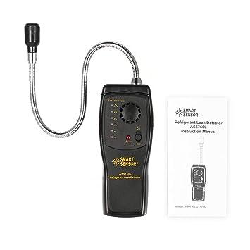 SMART SENSOR AS5750L Detector de fugas de refrigerante Halogen Freon CFCs HCFCs HFCs Analizador de gases Tester Monitor de aire acondicionado: Amazon.es: ...