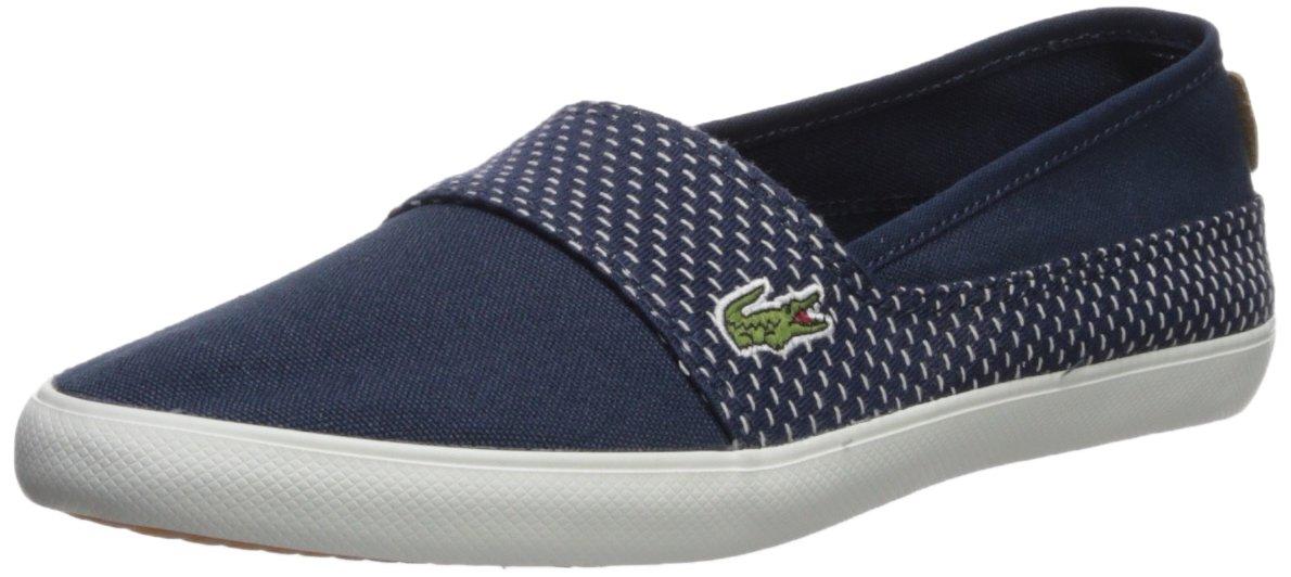 Lacoste Women's Marice Sneaker, Navy Stitch, 8 Medium US