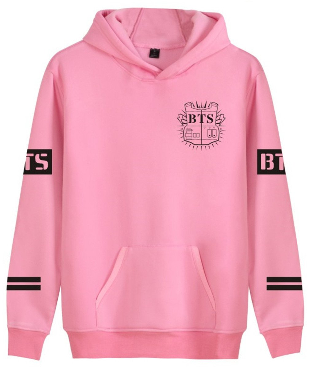 SERAPHY Unisex BTS Hoodies Bangtan Boys Sweatshirt For Women and Men Suga Jin JIMIN Jung Kook J-Hope Rap-Monster V Pink-93 4XL