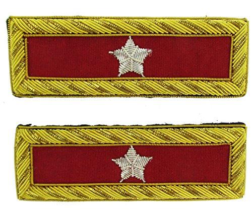 Military Uniform Supply BRIG GENERAL Reproduction ARTILLERY Officer Civil War Shoulder Board Rank for - Uniforms Civil Artillery War