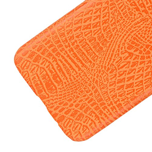 Funda Samsung Galaxy S8, SunFay Funda Posterior Protector de PC Carcasa Back Cover de Parachoques Piel PU Protectora de Teléfono Para Samsung Galaxy S8 - Marron Naranje