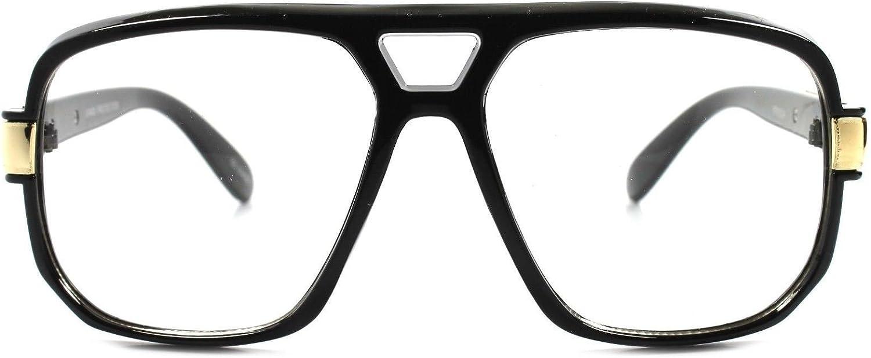 Classic Vintage Retro Swag Indie Hip Hop Rapper DJ Clear Lens Square Glasses