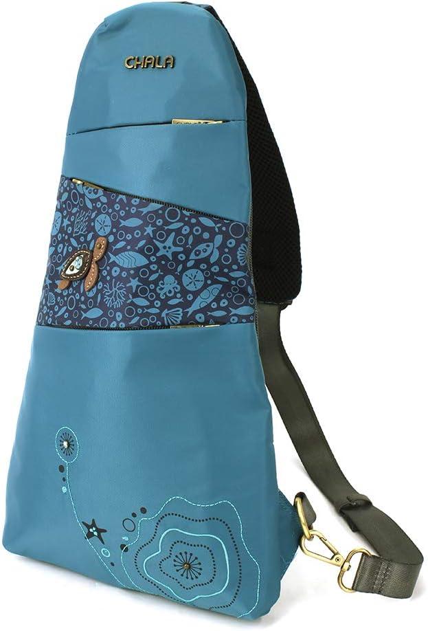 CHALA CV-Escape Sling Backpack Pawprint Burgundy
