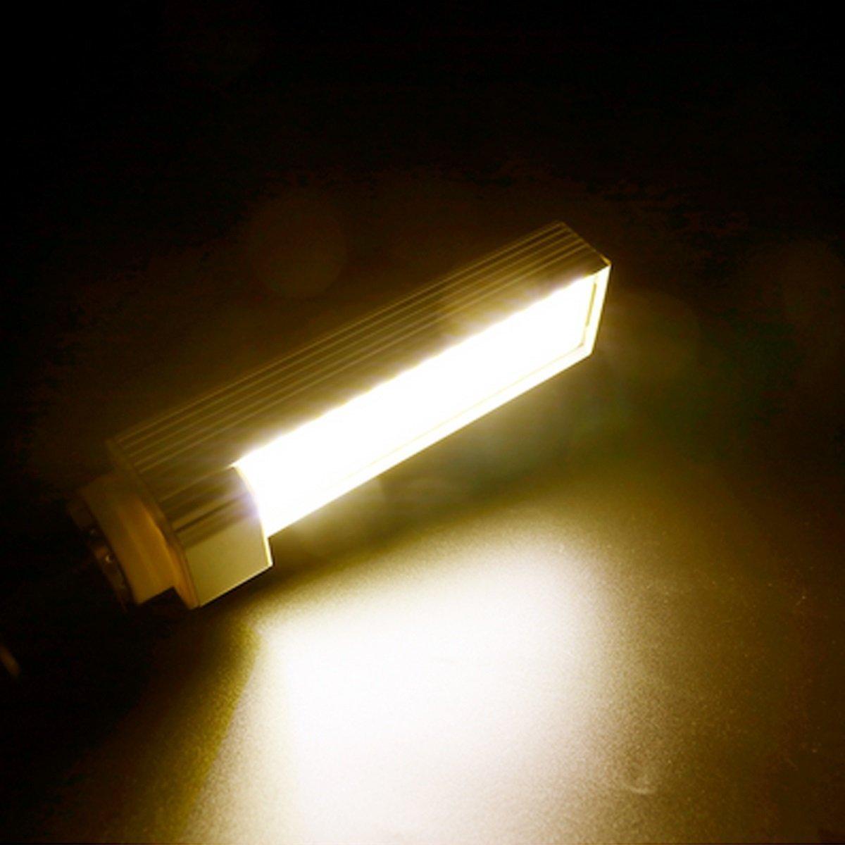 Masonanic LED 14W G24 Compact Fluorescent Lamp Rotatable Aluminum Lamp G24 E26LED CFL/Compact Fluorescent Lamp,35W CFL Equivalent (3000K Warm White, 1 Pack)