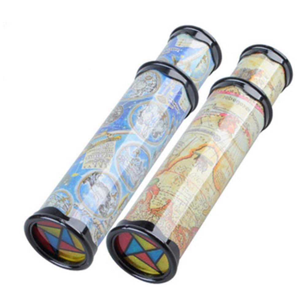 DOPHYRANIX Magic Kaleidoscope, 2 Pack Best Birthday Gift for Children (Two Colors)