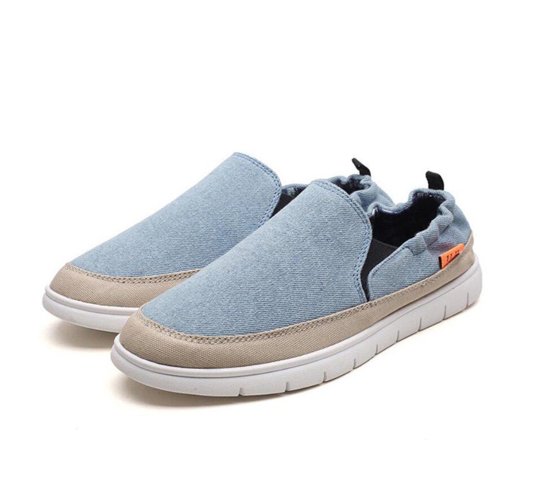 DANDANJIE Zapatos de los Hombres Ocasionales de Verano Zapatos de Lona Transpirables Zapatos Cómodos de la Moda al Aire Libre (Color : Azul, Tamaño : 39 EU) 39 EU Azul