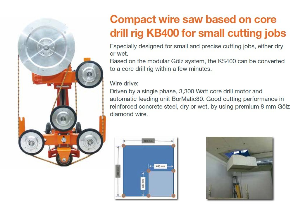Wire Saw KS400 by Gölz - Portable, Compact for small cutting jobs ...