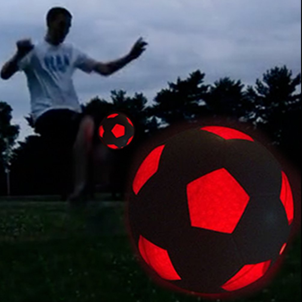 amazon com light up led soccer ball uses 2 hi bright led lights