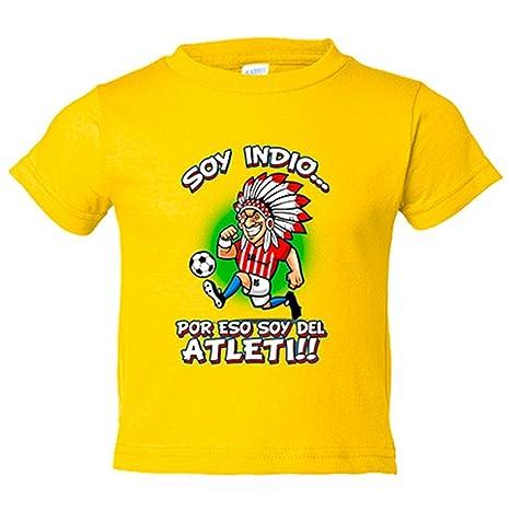 Camiseta niño Atlético de Madrid Soy un Indio feliz por eso soy del Atleti - Amarillo