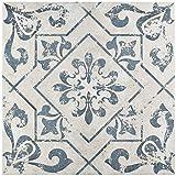 ceramic bathroom tile Orleans Spanish Pattern 18x18 Ceramic Tile