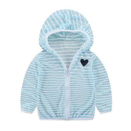 Vestido de verano transpirable para niños, chaqueta de manga larga, con capucha y cremallera