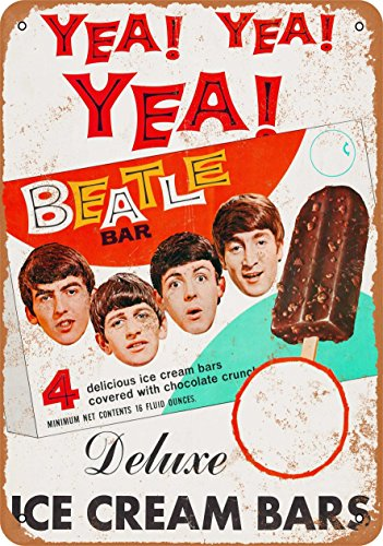 Wall-Color 7 x 10 METAL SIGN - 1965 The Beatles Ice Cream Bars - Vintage Look Reproduction
