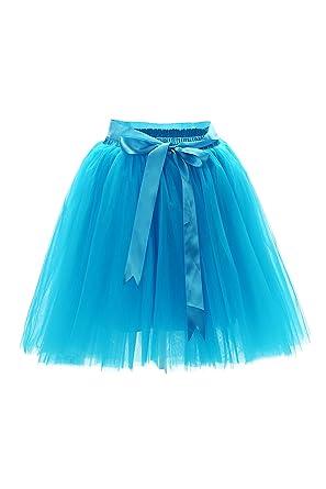 4091d482ea6490 MisShow Damen Rockabilly Tüll Petticoat Reifrock Unterrock Petticoat  Underskirt für Rockabilly Kleid One Size 50CM-Läng