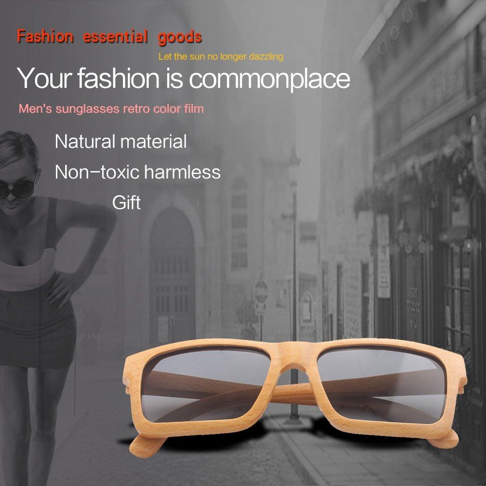 Gafas de sol oayawl madera hombres mujeres gafas de sol ...