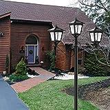 "72"" Solar Lamp Post Lights Outdoor, Triple-Head"