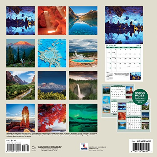 Turner Photo 2017 Nature's Wonders Photo Mini Wall Calendar, 7 x 14 inches Opened (17998950012)