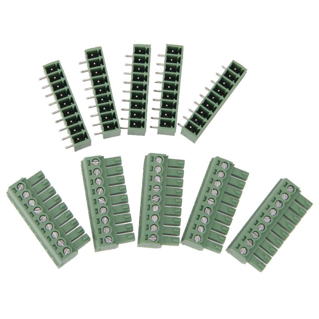 5Pcs 9 polig Printklemme Leiterplatte Leiterplatten Anschlussklemmen Unbekannt