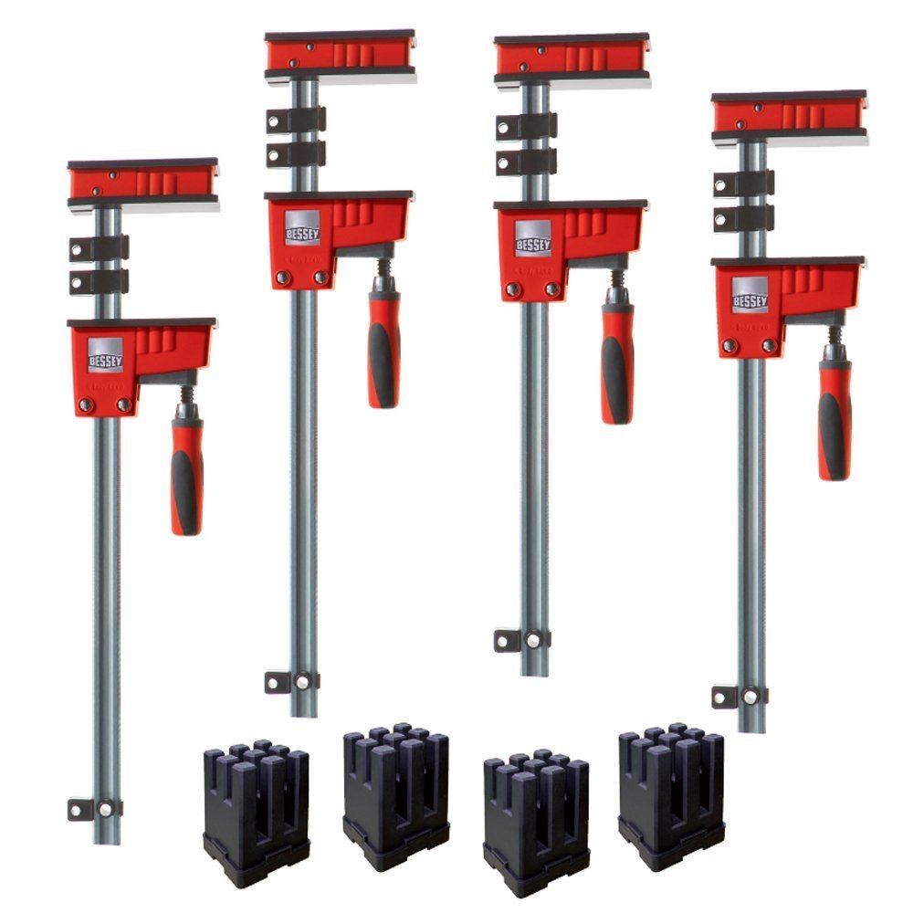 Bessey KRK2440 K Body REVO Fixed Jaw Parallel Clamp Kit Includes: 2-24-inch, 2-40-inch K Body Clamps and 1 set of KP Blocks by Bessey