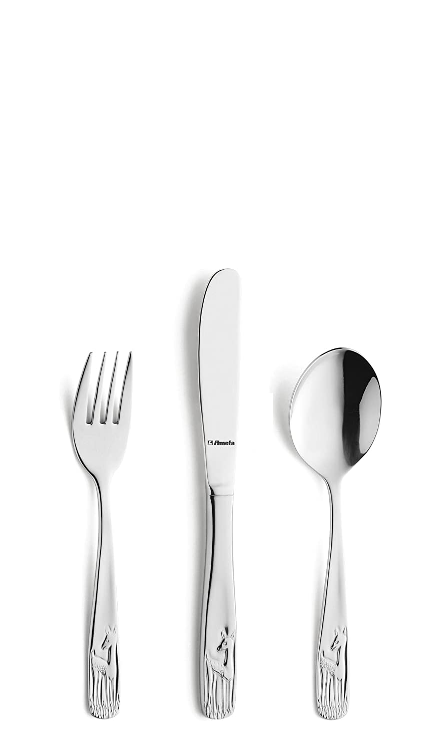 Amefa Kids Deer Kids Cutlery Set Stainless Steel 3 Piece 002700G100A40