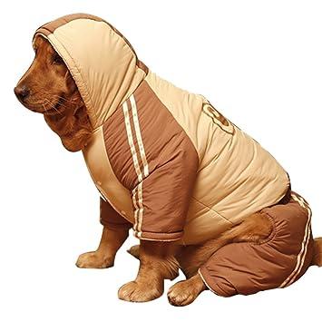 omem perro invierno Mono, disfraz de perro de punto de Navidad Invierno Ropa Chaqueta Abrigos para 30 - 110 libras perro: Amazon.es: Productos para mascotas