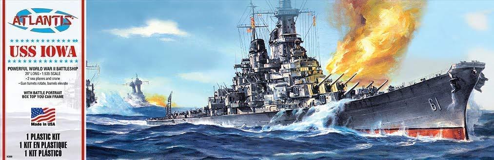USS Iowa Battleship Model Kit
