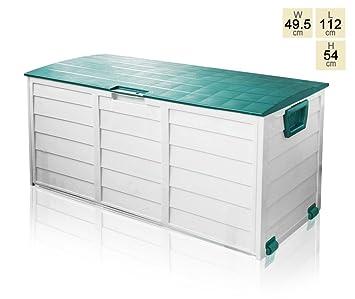 Heavy Duty Outdoor Storage Box Green L1 1m X H54cm X W49cm