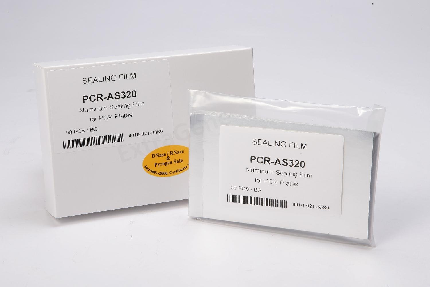 ExtraGene PCR-AS320 Aluminiun Sealing Film for PCR 96 well Plate (Bag of 50) Inc.