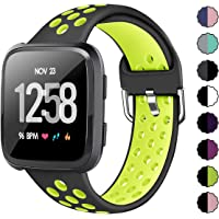 XIMU Sport Bands Compatible with Fitbit Versa/Versa 2/ Versa Lite, Soft Silicone Waterproof Breathable Sport Watch Strap Replacement Wristband Accessories Women Man for Versa Smart Watch