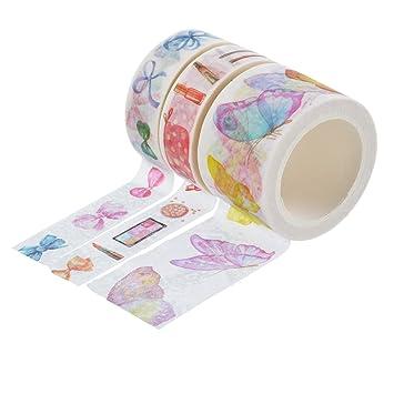souarts Pink Schmetterling Schleife Muster Papier Masker Klebeband ...