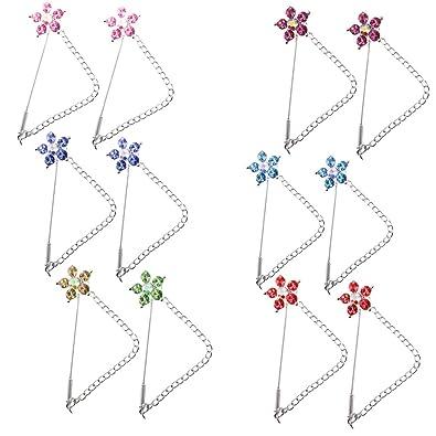 Sharplace - Juego de 12 pines de seguridad para bufandas de coser ...