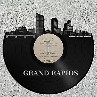 VinylShopUS Grand Rapids Vinyl Wall Art City Skyline Travel Gift