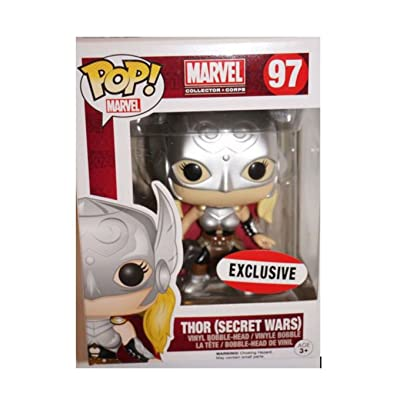 MARVEL Collector Corps Secret Wars Funko POP! Lady Thor 97 Exclusive Bobblehead: Toys & Games