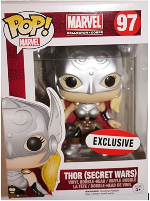 Amazon Com Marvel Collector Corps Secret Wars Funko Pop Lady Thor 97 Exclusive Bobblehead Toys Games