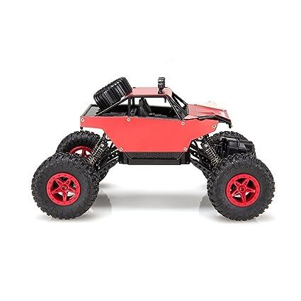 Virhuck 1139 (A) 1/18 Scale 4WD Rock Crawler con Carcasa Metálica,2.4GHz Vehículo Todoterreno RC Car 4MPH presentes(Rojo)