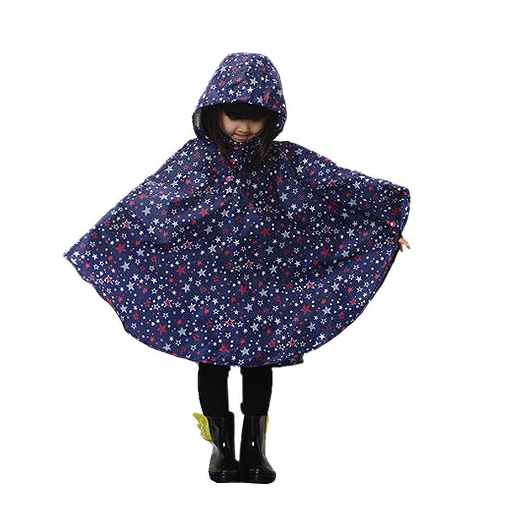 Regenmantel Kinder Regenponcho mit Kapuze wasserdicht regenbekleidung regencape für Kinder und Mädchen