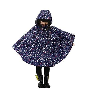 plus de photos 11c0a 38fbf Unisex Enfant Manteau Imperméable - Cape/ Ponchos de Pluie avec Capuche -  Chauves souris Raincoat Cape Imperméable Léger aux Enfants de Bébé