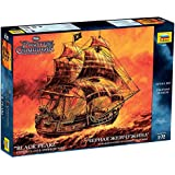 Black Pearl Pirates of the Caribbean Captain Jack Sparrow and Barbossa pirate ship plastic scale model kit 1/72 by Zvezda