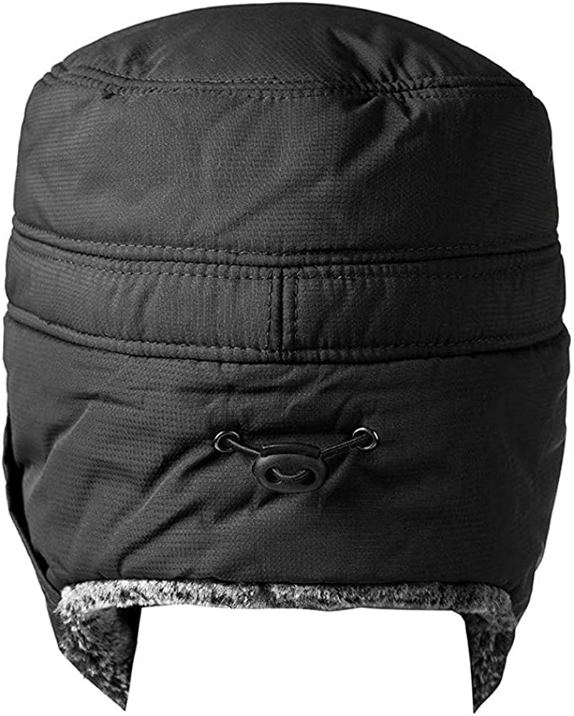 Mekta M/änner Winter Warm Trooper Trapper Hut Ski Hut Pilot Aviator Cap mit Ohrenklappe und Anti-Nebel-Maske