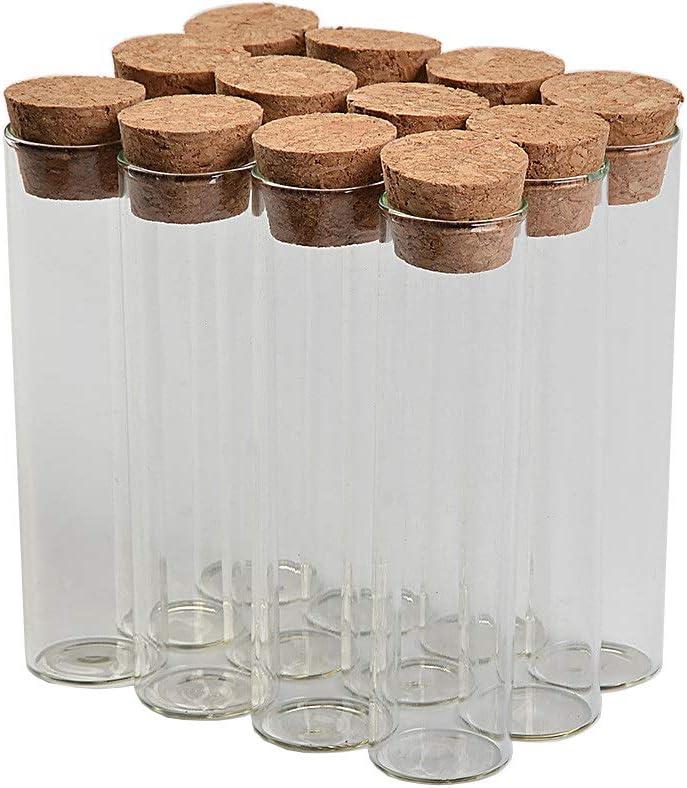 TAI DIAN 22ml 22x90mm Mini Bottles Glass Test Tube Jar Storage for Saffron Sweet Sand Liquid Food Gift DIY Bottles 100pcs(100, 22ml)