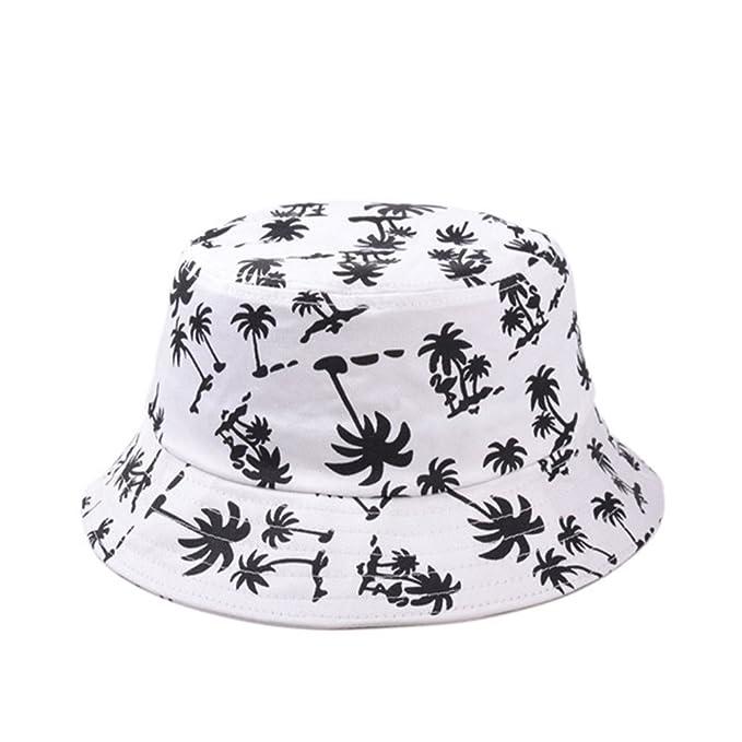 TININNA Estivo Unisex Coconut Tree Stampe Cotone Bucket Hat Cappello da  Pescatore Berretti Visiera di Sole Spiaggia Cappello di Sun(Bianco)   Amazon.it  ... c8c89104ea88