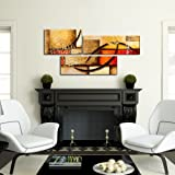 3 Pics Modern Abstract 100% Hand Painted Oil