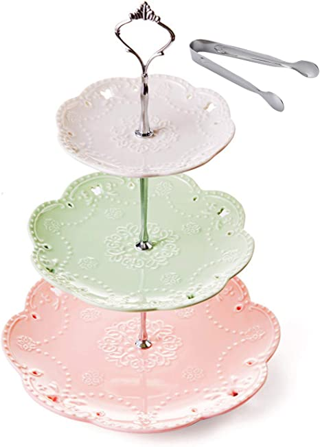 3-Tier Porcelain Cake Stand-Dessert Stand-Cupcake Stand