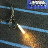 Rayauto 8mm Yellow 12V Car Home Novelty USB led Light Source Illuminator for Side Glow Optic Fiber