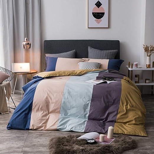 MSM 100% algodón Cama 4 Piezas, Completa Cama Conjunto Incluye X1 ...