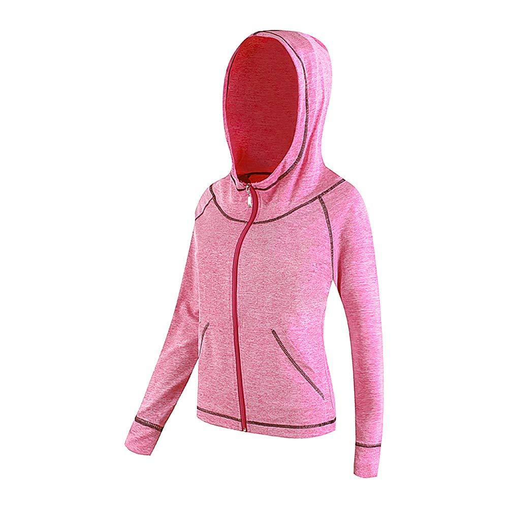 La Dearchuu Long Sleeve Running Jackets Women Quick Drying Hoodie Sports Jacket